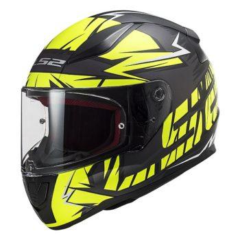 LS2 FF353 Rapid Cromo Gloss Black Fluorescent Yellow Full Face Helmet