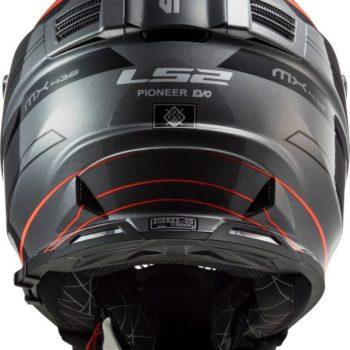 LS2 MX436 Pioneer Evo Knight Matt Titanium Fluorescent Orange Dual Sport Helmet 5