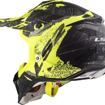 LS2 MX470 Subverter Claw Matt Black Yellow Motocross Helmet 1