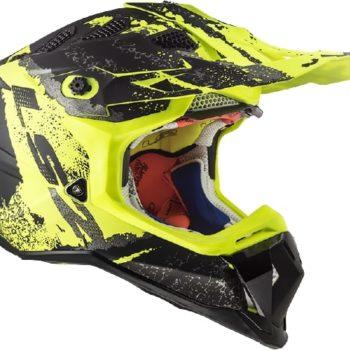 LS2 MX470 Subverter Claw Matt Black Yellow Motocross Helmet 3