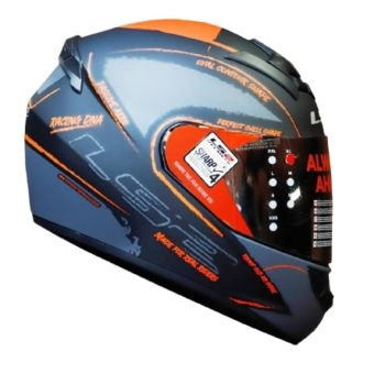 LS2 FF352 Brush Matt Black Orange Helmet