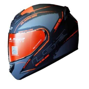LS2 FF352 Brush Matt Black Red Helmet