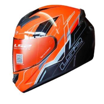 LS2 FF352 Chaser Gloss Black Orange Helmet