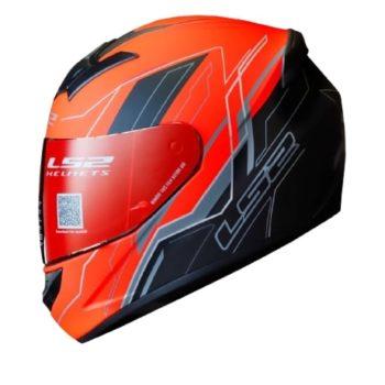 LS2 FF352 Chaser Matt Black Orange Helmet