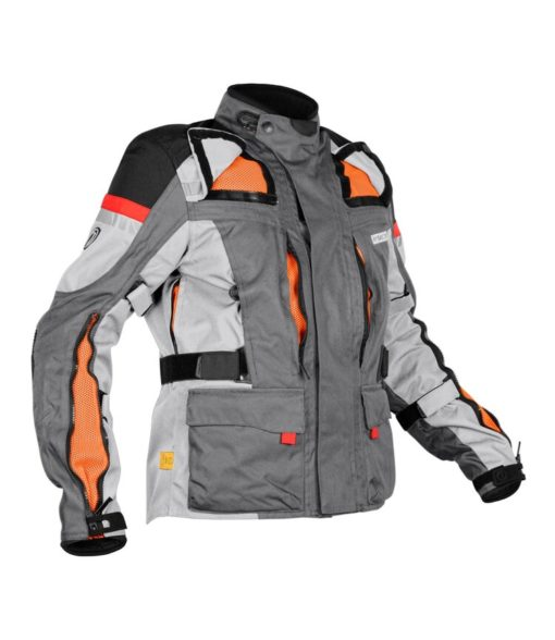 Rynox Stealth Evo V3 L2 Grey Riding Jacket 3