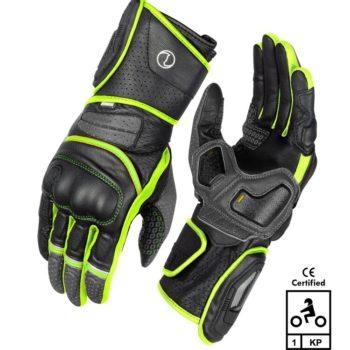 Rynox Storm Evo 2 Black Fluorescent Green Riding Gloves
