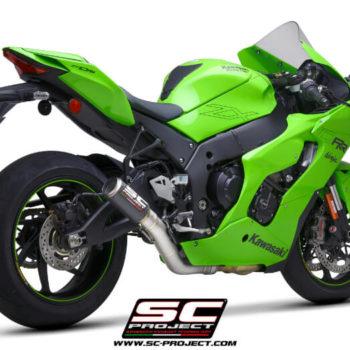 SC Project CR T K38A DET36C Carbon Slip on Exhaust for Kawasaki Ninja ZX10R RR 2021