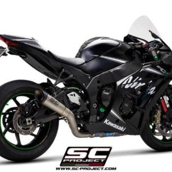 SC Project S1 K22A DET41T Titanium Slip on Exhaust for Kawasaki Ninja ZX10R RR 2016 2020