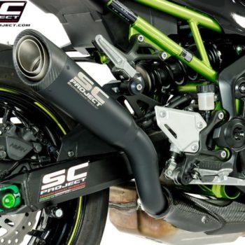 SC Project S1 K25A T41MB Titanium Slip on Exhaust for Kawasaki Z900 2017 19 2 min