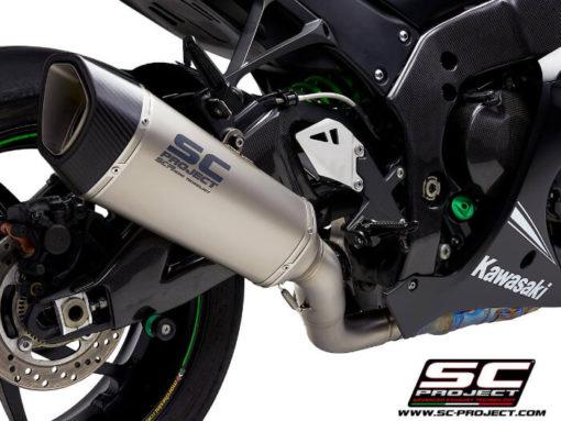 SC Project SC1 R K22A DET91T Titanium Slip on Exhaust for Kawasaki Ninja ZX10R RR 2016 2020 2