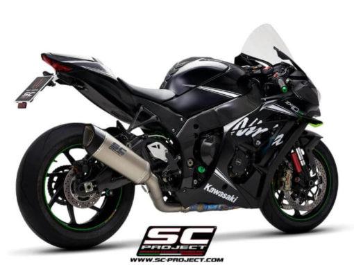 SC Project SC1 R K22A DET91T Titanium Slip on Exhaust for Kawasaki Ninja ZX10R RR 2016 2020