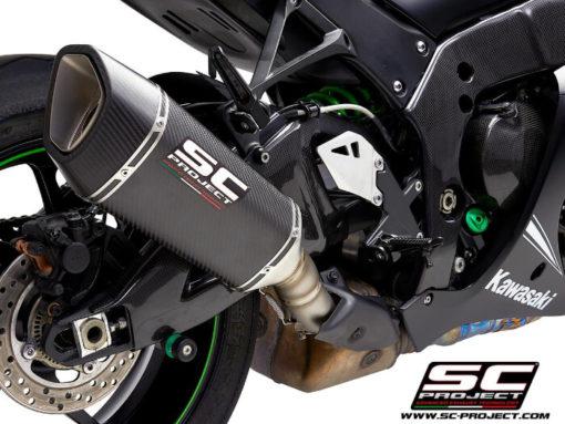 SC Project SC1 R K22A T90C Carbon Slip on Exhaust for Kawasaki Ninja ZX10R RR 2016 2020 2
