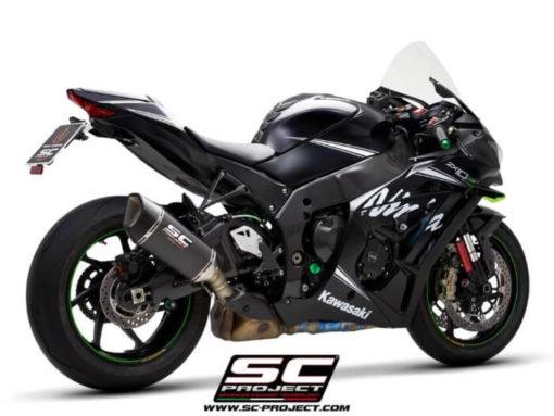 SC Project SC1 R K22A T90C Carbon Slip on Exhaust for Kawasaki Ninja ZX10R RR 2016 2020