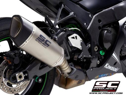 SC Project SC1 R K22A T90T Titanium Slip on Exhaust for Kawasaki Ninja ZX10R RR 2016 2020 2