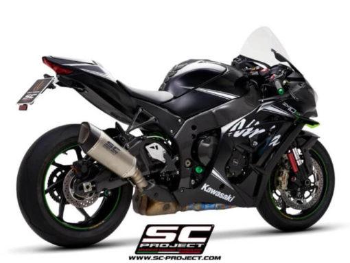 SC Project SC1 R K22A T90T Titanium Slip on Exhaust for Kawasaki Ninja ZX10R RR 2016 2020