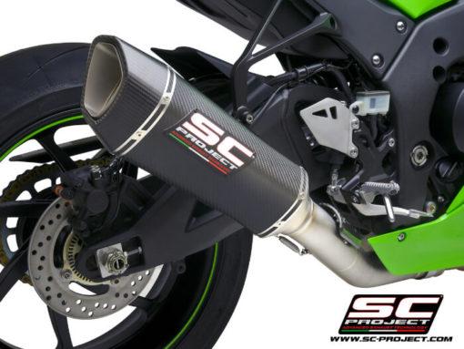 SC Project SC1 R K38A DET91C Carbon Slip on Exhaust for Kawasaki Ninja ZX10R RR 2021 2