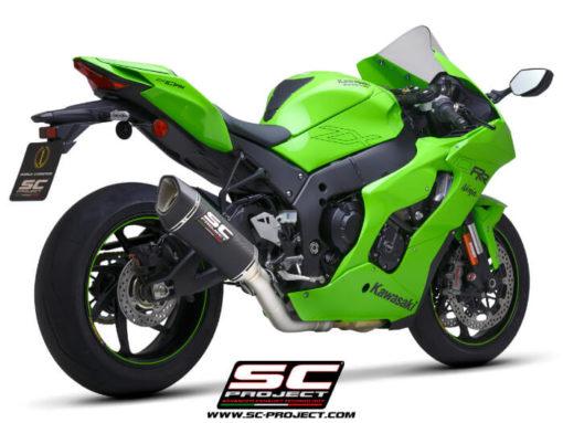 SC Project SC1 R K38A DET91C Carbon Slip on Exhaust for Kawasaki Ninja ZX10R RR 2021