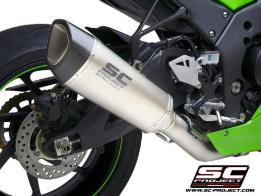 SC Project SC1 R K38A DET91T Titanium Slip on Exhaust for Kawasaki Ninja ZX10R RR 2021 2