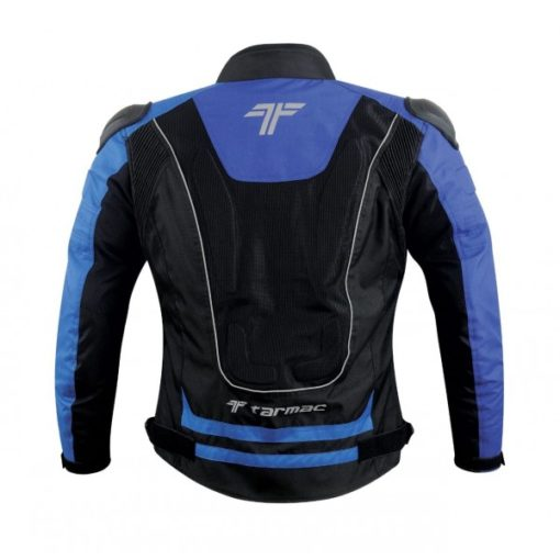 Tarmac One III Level 2 Black Blue Riding Jacket 2