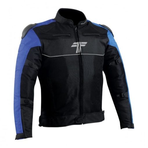 Tarmac One III Level 2 Black Blue Riding Jacket 3