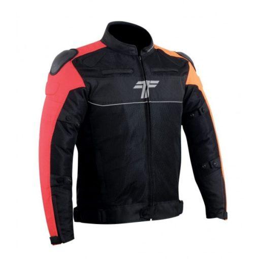 Tarmac One III Level 2 Black Red Orange Riding Jacket 3
