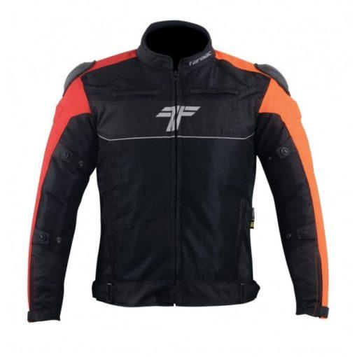 Tarmac One III Level 2 Black Red Orange Riding Jacket