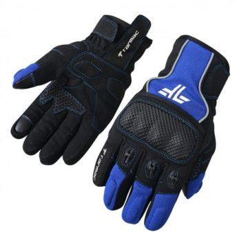Tarmac Tex Black Blue Riding Gloves