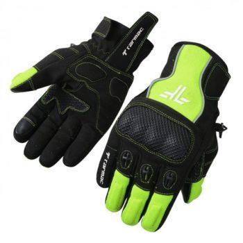 Tarmac Tex Black Fluorescent Green Riding Gloves