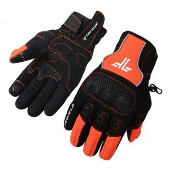 Tarmac Tex Black Orange Riding Gloves