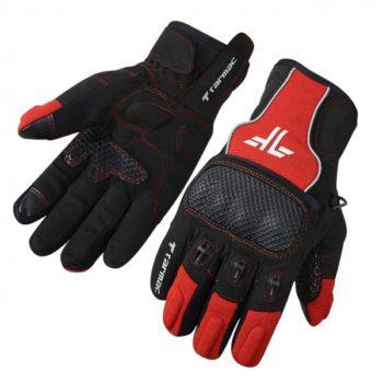Tarmac Tex Black Red Riding Gloves
