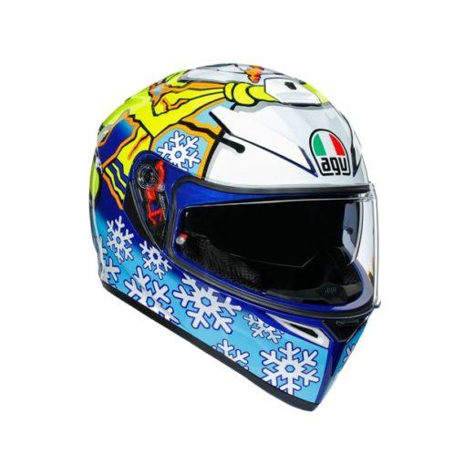 AGV K3 SV Top MPLK Rossi Winter Test 2016 Matt Blue White Yellow Full Face Helmet 1