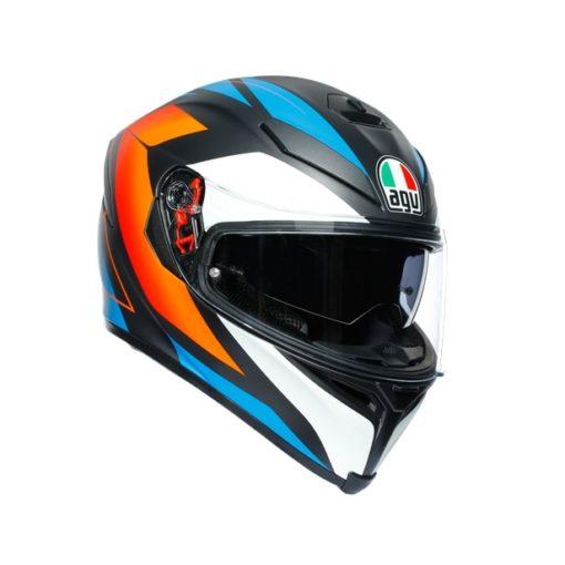 AGV K5S Core Black Blue Orange Helmet 1