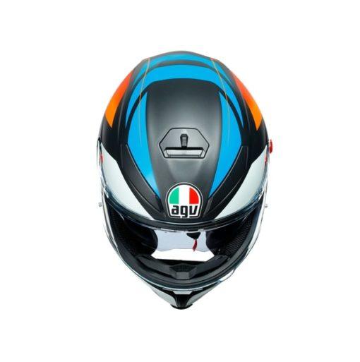 AGV K5S Core Black Blue Orange Helmet 2