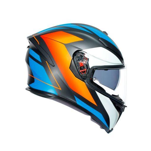 AGV K5S Core Black Blue Orange Helmet 3