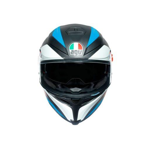 AGV K5S Core Black Blue Orange Helmet 4