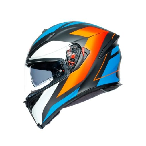 AGV K5S Core Black Blue Orange Helmet 5