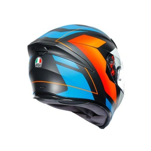 AGV K5S Core Black Blue Orange Helmet 6
