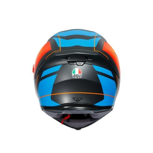 AGV K5S Core Black Blue Orange Helmet 7