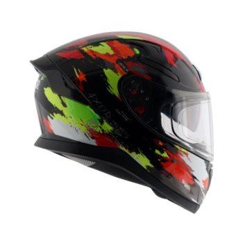 AXOR APEX Racer Gloss Black Fluorescent Yellow Helmet 7