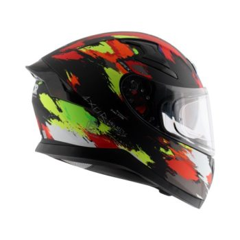 AXOR APEX Racer Matt Black Fluorescent Yellow Helmet 5