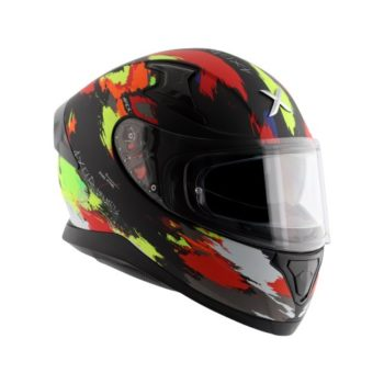 AXOR APEX Racer Matt Black Fluorescent Yellow Helmet 6