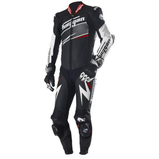 Furygan Full Ride Black White Red Racing Suit 2