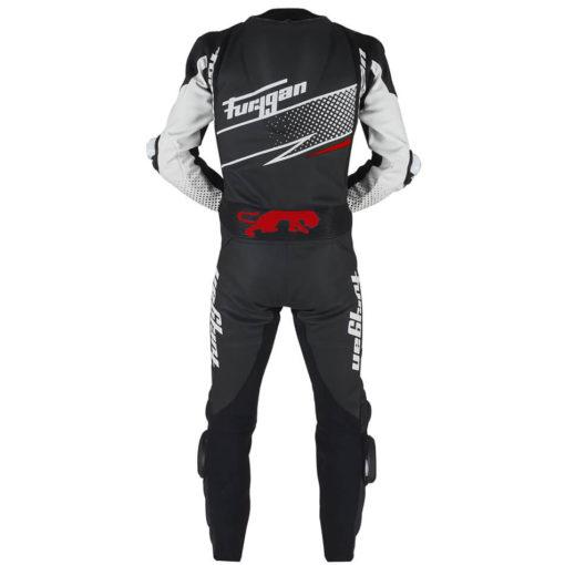 Furygan Full Ride Black White Red Racing Suit 3