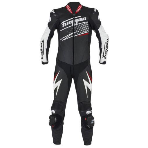 Furygan Full Ride Black White Red Racing Suit