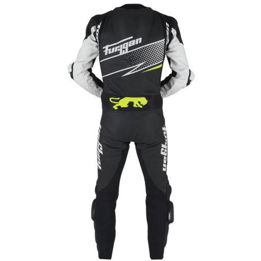 Furygan Full Ride Black White Yellow Racing Suit 3