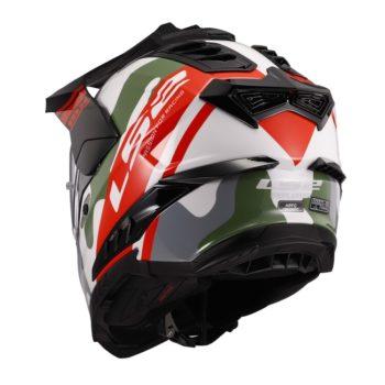 LS2 MX701 Explore HPFC Camox Matt White Red Camo Motocross Helmet 4