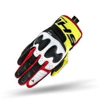 Shima Blaze Black Red Fluorescent Yellow Riding Gloves 3