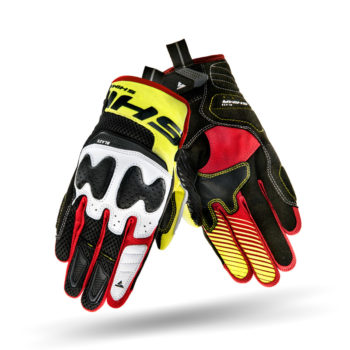 Shima Blaze Black Red Fluorescent Yellow Riding Gloves