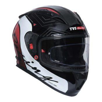 TVS Racing Matt Black Red Full Face Helmet