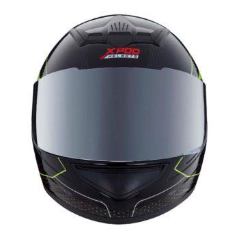 TVS Racing XPOD Blistering Black Fluorescent Yellow Full Face Helmet 2